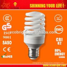 Chaud! économie de Mini spirale complète 7mm 15W lampe SKD 10000H CE qualité