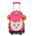 Trolley School Bags with Wheel and Cartoon
