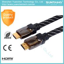 2016 cable vendedor caliente del enchufe HDMI del oro 1.4V