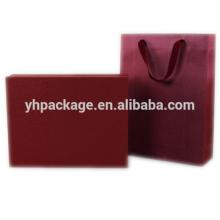 2018 gros logo imprimé carton recyclable luxe fantaisie rouge sac
