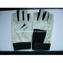Half Finger Glove-Racing Glove-Bicycle Glove-Work Glove-Leather Glove