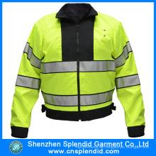 Großhandelsmänner, die Polyester-Regen-Jacke mit 3m reflektierendem Klebeband radfahren