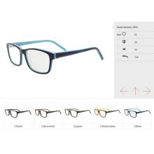 Óculos de olho de pequeno tamanho de fornecedores da China, quadro ótico de acetato pronto