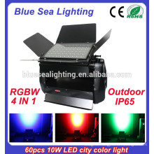 China IP65 60pcs 10w 4 in 1 dmx rgbw outdoor city color led