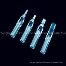 Heiße Verkaufs-Tätowierung-Ausrüstungen wegwerfbare Plastik kurze Tätowierung-Spitzen