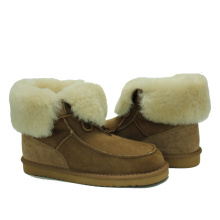 Design latest women comfy sheepskin fuzzy winter boots