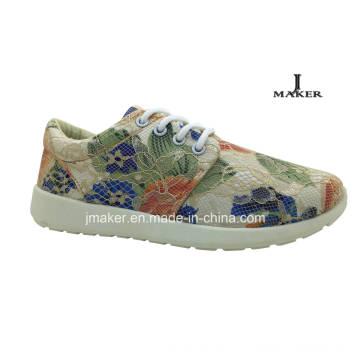 Новый дизайн Bud Silk Flowers Инъекционные ботинки Спортивная обувь