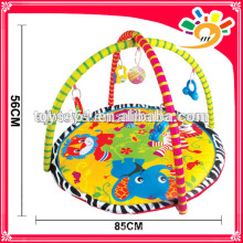Educational soft baby mat baby play mat with hanging toys