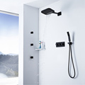 Hot Cold Black Shower Faucet with Body Jet