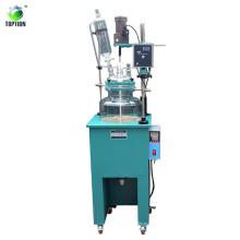 Big Capacity 200l Industrial Agitated Vacuum Single Layer Glass Batch Reactor Factory Sales