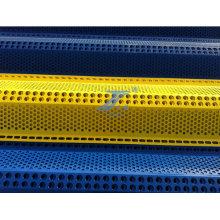 Barreira de cobertura de plástico com revestimento rico em plástico