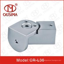 Conector de tubulação para porta de vidro do chuveiro