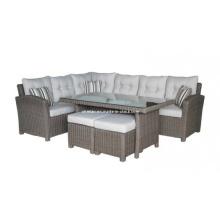 Garten Wicker kausale Lounge Sofa Set Outdoor-Rattanmöbel