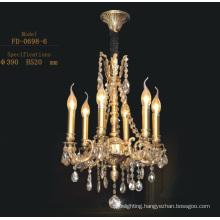Classical Elegance Hotel Crystal Pendant Chandelier Lamp (FD-0698-6)