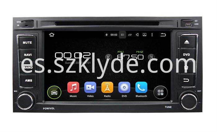 Capacitive multi-touch screen car gps navigation for TOUAREGMULTIVAN