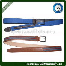Fashion Design Pin Buckle Men Leather Fabric Belt/homens cinto de Lona
