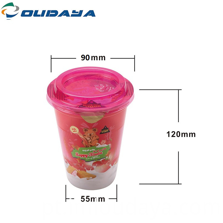 dimension for iml snack cup with lid