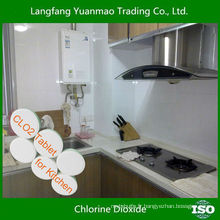 Tablette de dioxyde de chlore désinfectant pour ménage pour la désinfection de la cuisine
