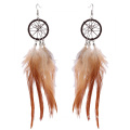 New Cool Punk Feather Women's Long Tassel hook Earrings