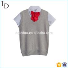 T-shirt avec l'uniforme de haut tricoté en gros pour les enfants