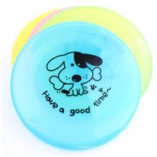 Atacado Bending plástico cartoon cão disco de impressão Frisbee plástico do animal de estimação