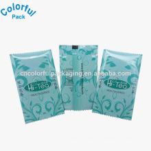 Sacos de empacotamento vazios do saquinho de chá com rasgo / mini sacos de plástico de alumínio do chá mini de alta qualidade
