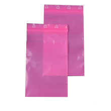 ESD Pink PE Zipper Bags for Packing Electronics
