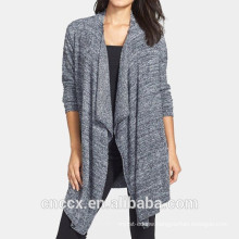 15STC6702 drape front bamboo cardigan