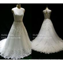 Robes de mariée design en dentelle robe de mariée robe de bal robes de mode dernières robes de mariée en perles lourdes avec une longue queue