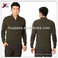 Suéter de cashmere de malha de homens com fecho de correr