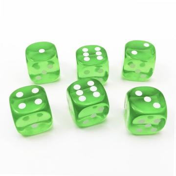 14.5MM Printing Precision Dice Translucent Green 0.57inch
