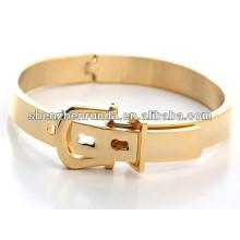 Diseño único para fashionistas pulsera de chapado en oro de acero inoxidable