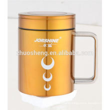 fashionable product promotional double wall stainless steel custom sublimation ceramic mug cup
