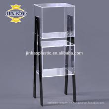 Jinbao A4 40X60 cm nuevo personalizar estante de exhibición acrílico de cristal claro del periódico