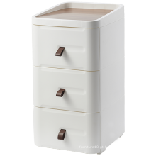 Mesa de cabeceira de madeira simples e moderna para quarto