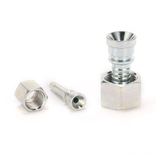 Metric 74 degree cone seat female threaded carbon steel/brass/stainless steel pipe fitting coupling
