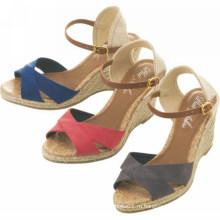 2015 Самый последний способ сексуальных девушок высокой пятки сандалии клина женщины сандалии