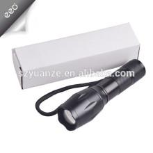 XML-T6 LED lanterna tocha luz lâmpada, recarregável 18650 ou AAA bateria luz lanterna
