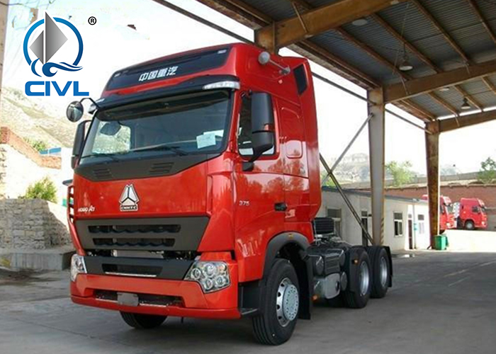 Howo A7 Tractor Truck Red Color You Like
