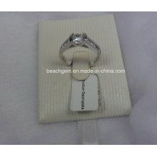 Кубический цирконий Кольца серебряные ювелирные изделия (SAM_5925)
