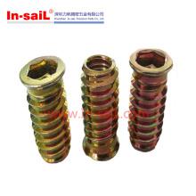 Steel Zinc Plating Threaded Nut Insert Wood China OEM Manufacturer