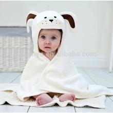 Long Eared Puppy Baby Handtuch Creme Weiß, hergestellt in 100% Superior Qualität Velour Baumwolle Terry Frottier, große Wasseraufnahmefähigkeit