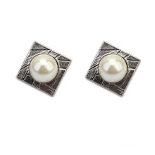 High Quality Square Design Jewelry Big Pearl Afican Earrings
