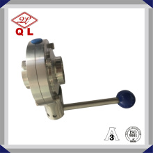 Wenzhou Stainless Steel Handle Sanitaire Butterfly Valve Fabricant