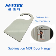 Blank MDF Door Hanger/Tag for Sublimation Printing