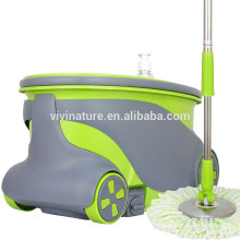 360 Stainless Steel Spin Mop with wheels,the spin bucket designed power saving style