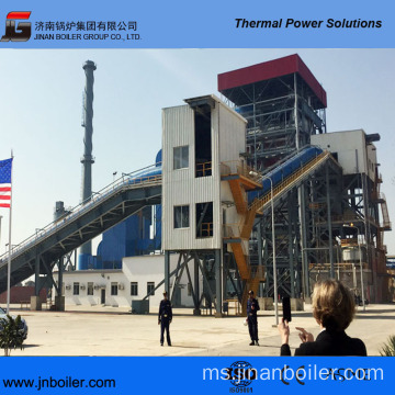 130 T / H Vibrating Grate Palm Fiber Fired Boiler