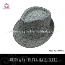 Chapéu de fedora de tecido para mulheres