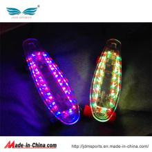 Planche à roulettes en plastique de plate-forme de longboard de planche à roulettes de 22inch Electrci LED