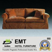 Sofá del dormitorio del hotel Sofá del marco de la madera sólida (EMT-SF47)